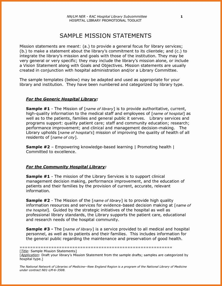 Personal Nursing Mission Statements Unique 0 1 Examples Of