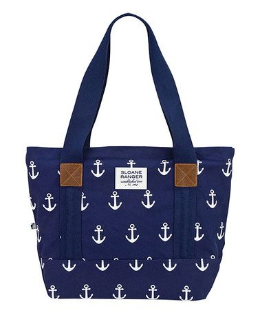Loving this Navy Anchor Tote on #zulily! #zulilyfinds