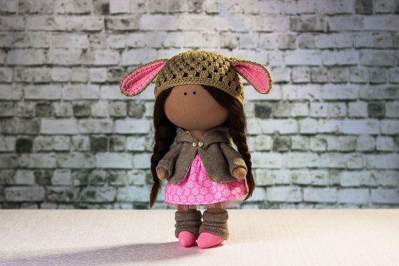 Doll Lana. Tilda doll. Textile doll. Soft toy. Cute от OwlsUa