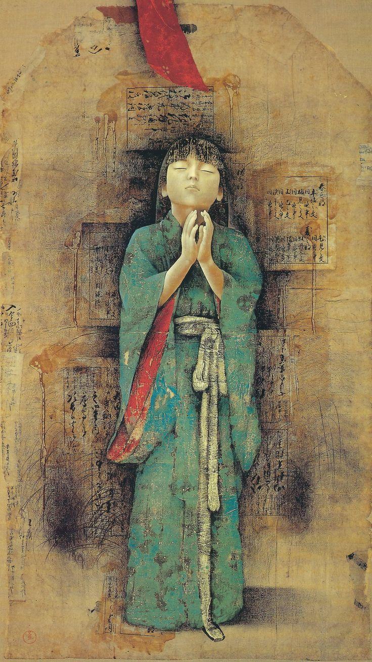 jap b0ndage 25 Kyosuke Tchinai, Japanese painter, born 1948