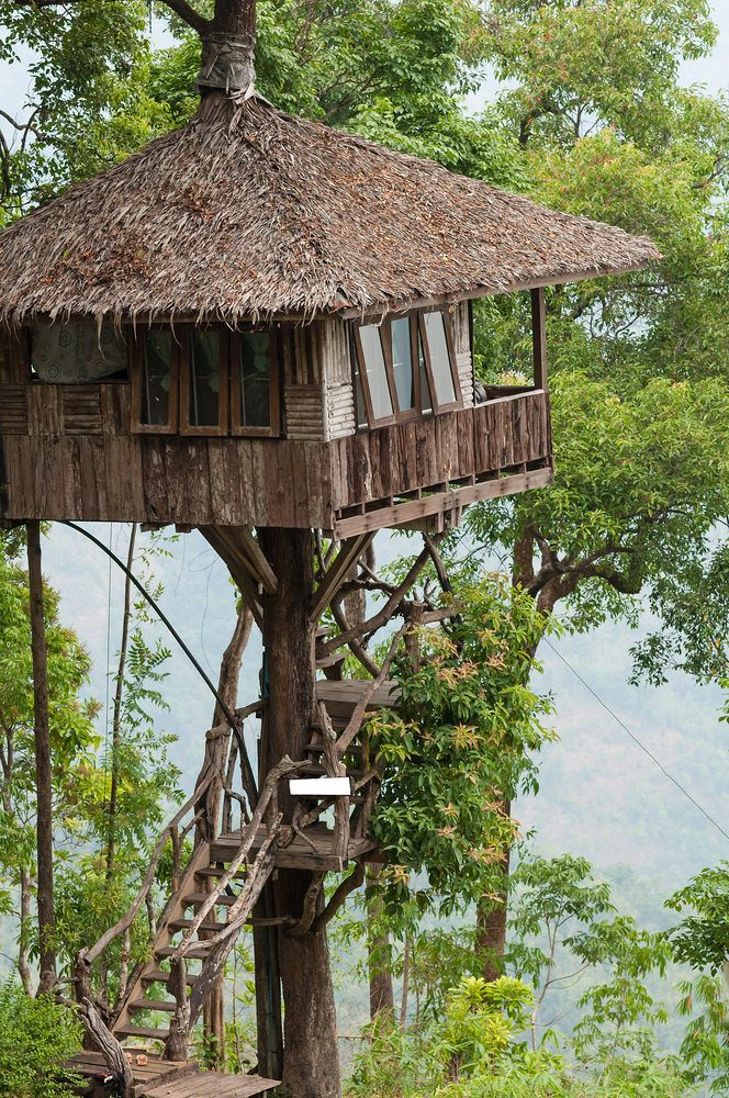 70 Fun Kids Tree Houses Picture Ideas And Examples Tree House Roof Styles Tree House Kids
