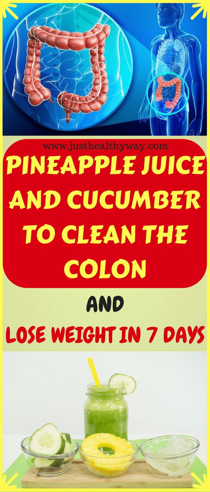 Pineapple Juice And Cucumber To Clean The Colon And Lose Weight In 7 Days – NICK Barling