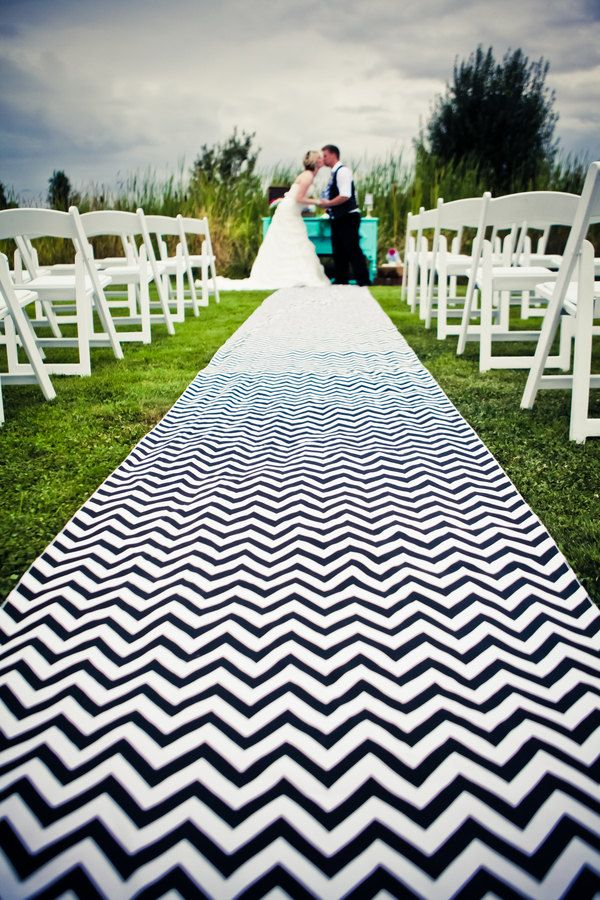 Beautuful Wedding Aisle Runner in Nautical Navy by TieingthheKnot, $109.00