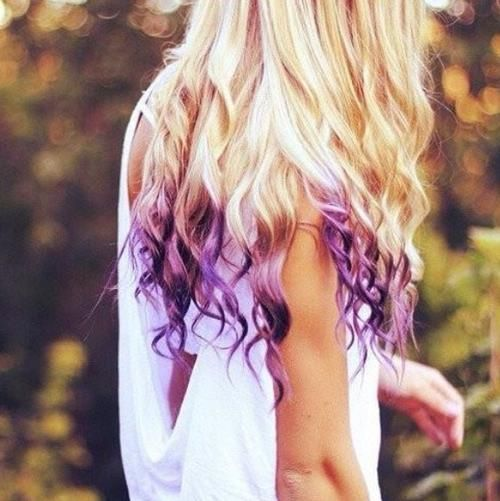 I love how the purple looks like flames in her hair!!