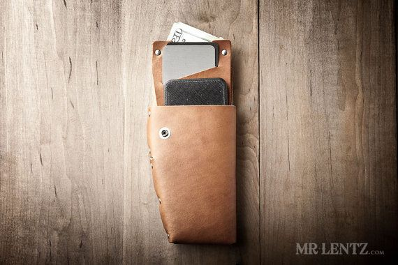 Leather Holster Wallet iPhone holster leather phone by MrLentz