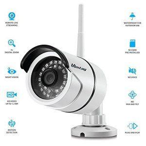 Vimtag® Wi-Fi ProHD extérieur sans fil de sécurité IP Bullet Caméra Weatherproof, surveillance vidéo, Jour Nuit IR-CUT, détection de…