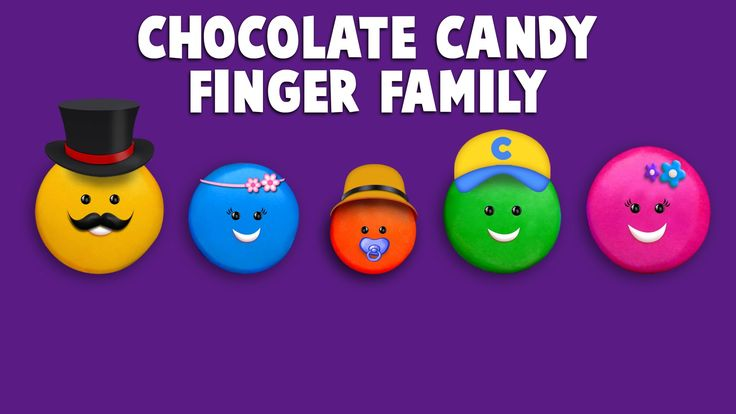 The Finger Family Chocolate Candy Family Nursery Rhyme   Chocolate Candy...