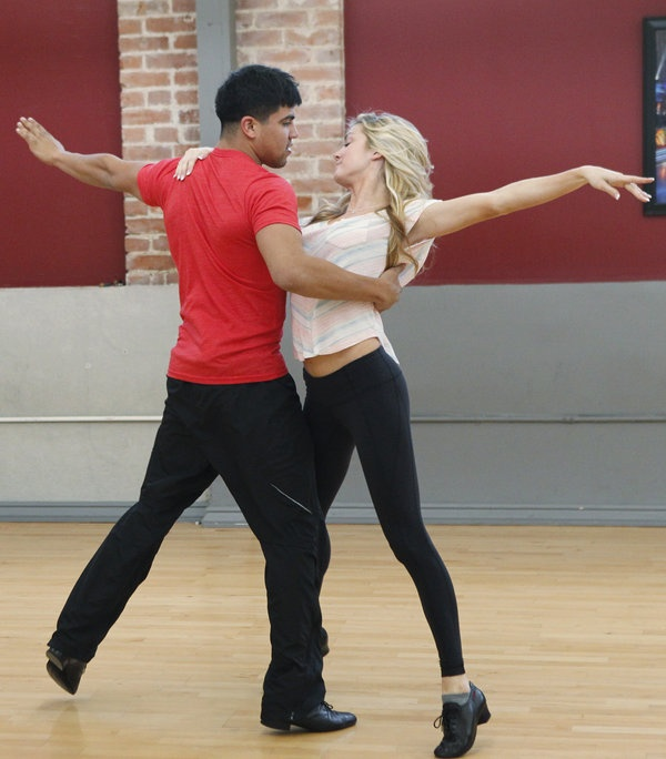 Victor Ortiz and Lindsay Arnold  -  Dancing with the Stars  -  season 16  -  spring 2013  -  rehearsal