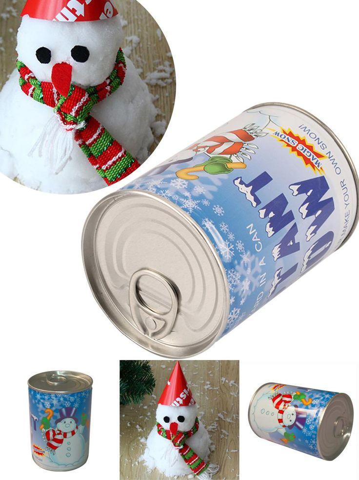 [Visit to Buy] Big Sale Instant Snow Man-Made Magic Artificial Snow Powder Christmas Decoration DIY Christmas Decoration #Advertisement
