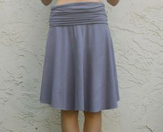 Yoga Skirt - Easy Great for beginner knit project. Materials: 1.25 yard knit fabric
