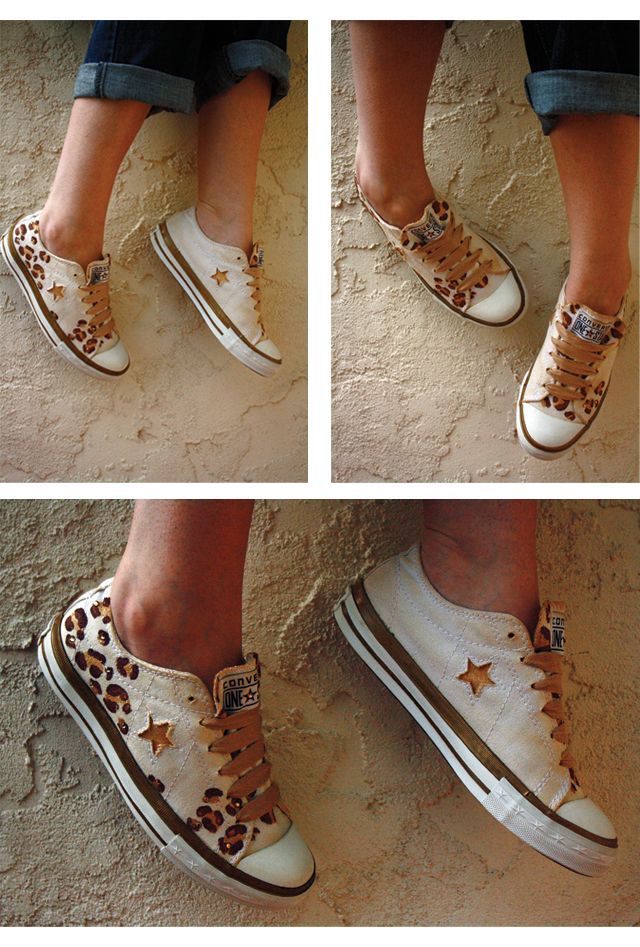 I did a fun DIY on these Converse One Star for Target sneakers! Rarrr...