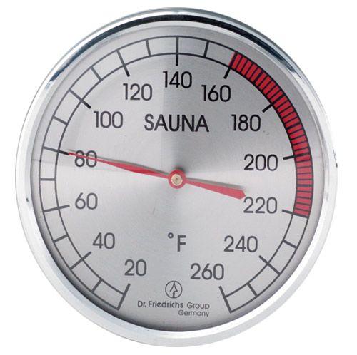 """Sauna Thermometer - 4"""" Chrome"""