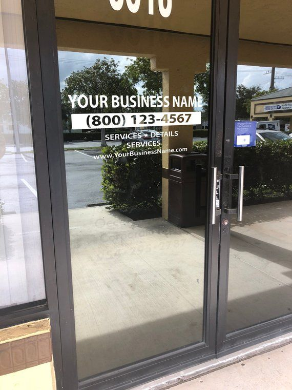 Custom Business Vinyl Decal Hours Window