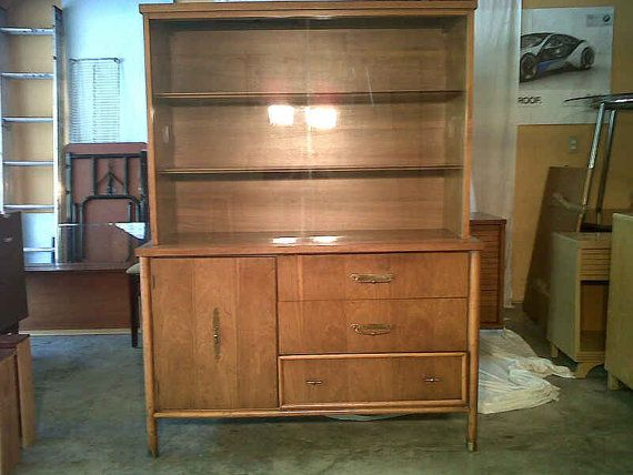 Nice Vintage Mid Century Danish China Hutch