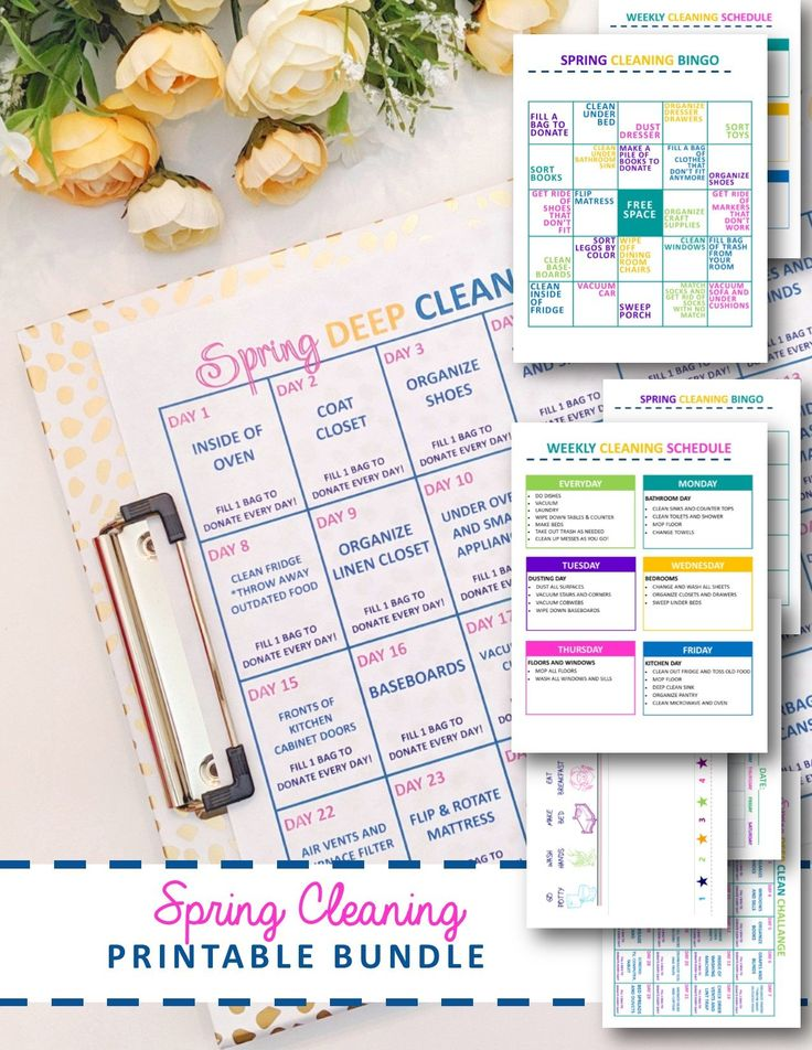 Spring Cleaning Printables for the Whole Family
