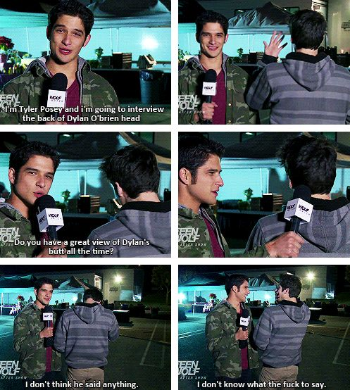 Bahaha Tyler Posey (Scott McCall) & Dylan O'Brien (Stiles Stilinski) - Teen Wolf