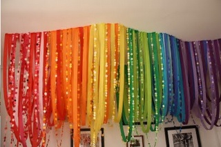 Crepe Paper Streamers Chandelier [DIY Party Decorations] ~ Be Different...Act Normal