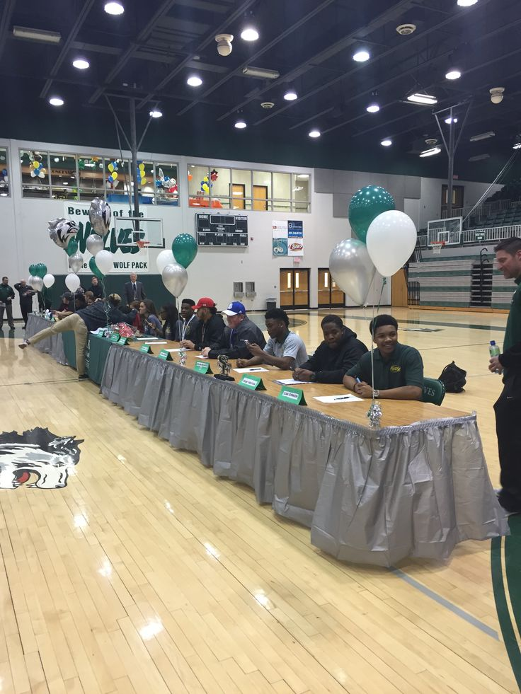 11 best images about national signing day table ideas on pinterest