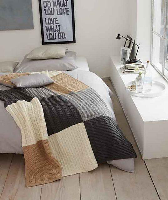 Scrap yarn idea: Ravelry: S8634 Knitted Throw pattern by Schachenmayr