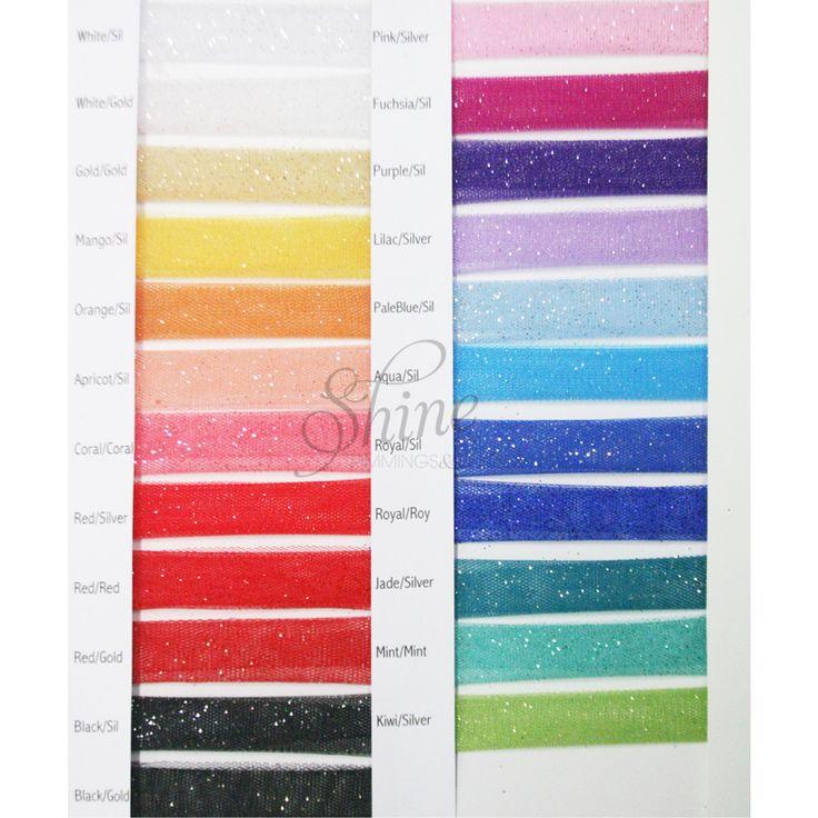 Glitter Tulle Sample Card | Shine Trimmings & Fabrics | Great Fabric for dancewear, costumes, tutu skirts & childrenswear