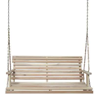 A traditional porch swing is the perfect place for after-dinner cocktails or ice cream on a beach house porch. | $133
