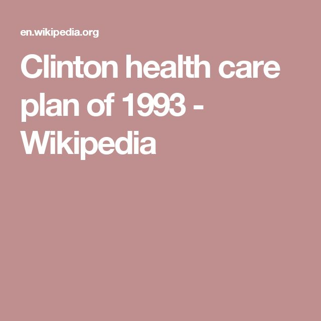 Clinton health care plan of 1993 - Wikipedia