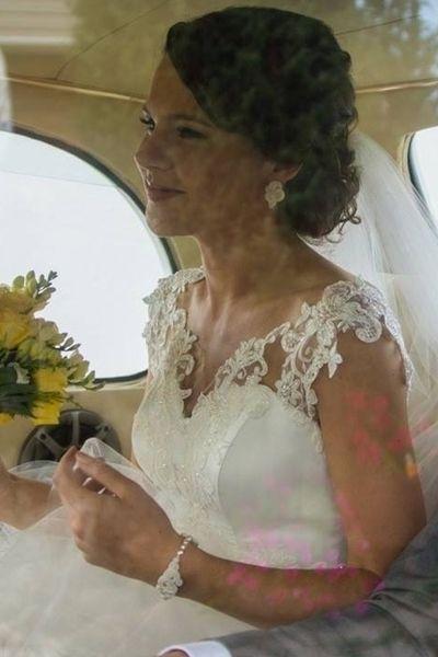 """Piękna Panna Młoda w zestawie """"Marriage ivory soutache"""" - komplet ślubny sutasz KAVRILA"""