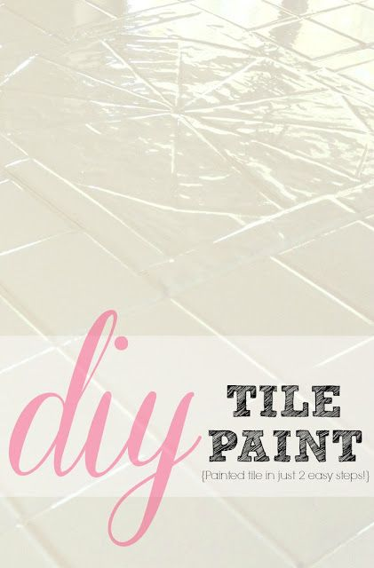 How to paint tile! Such an easy + affordable solution for outdated tile! AWESOME!