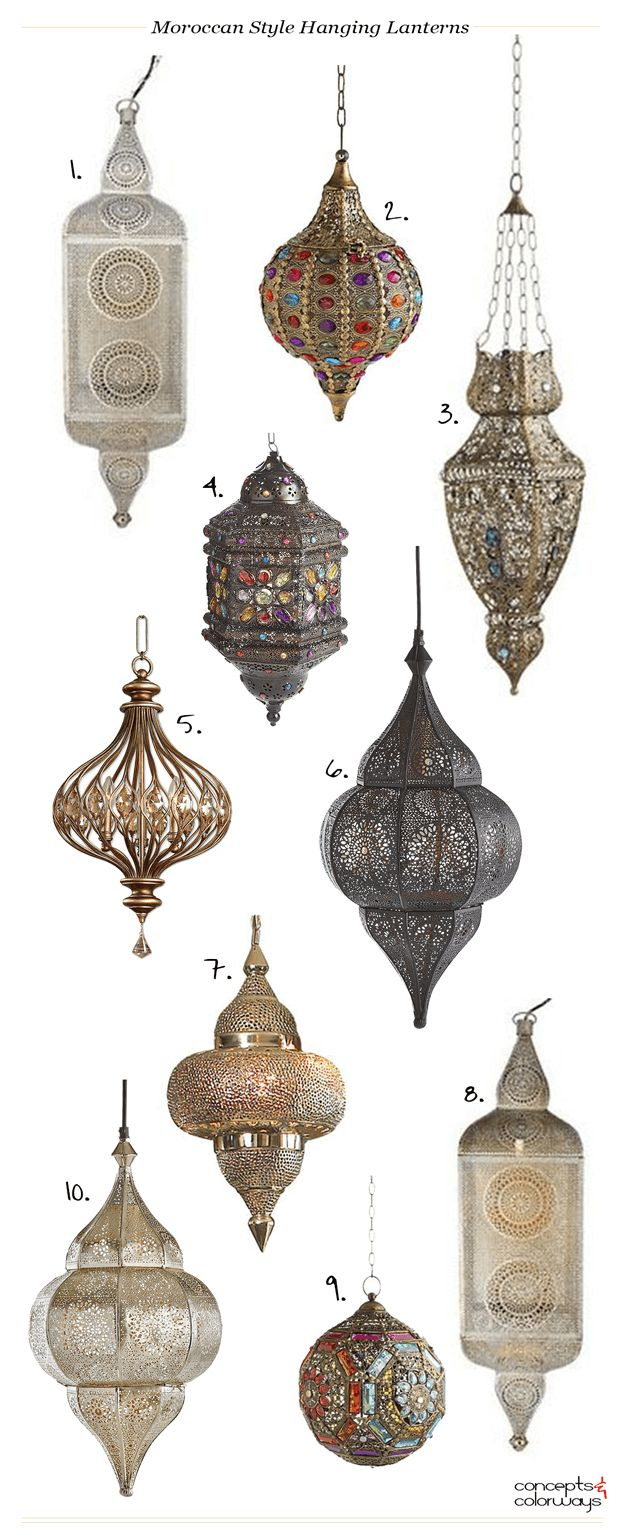 I've seen these Moroccan style hanging lanterns popping up everywhere and I have to say, I really like them. They have a Bohemian vibe that is just hard to