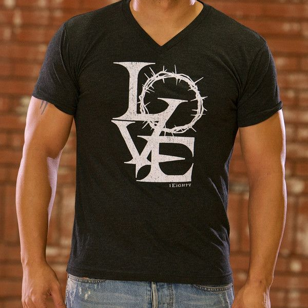 Crown of Thorns Love Christian T-Shirt | Free U.S. Shipping