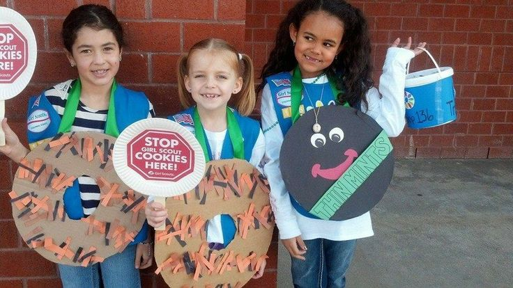 Cookie costumes can help bring attention to your cookie booth! #BlingYourBooth > bit.ly/1Pxsjfz