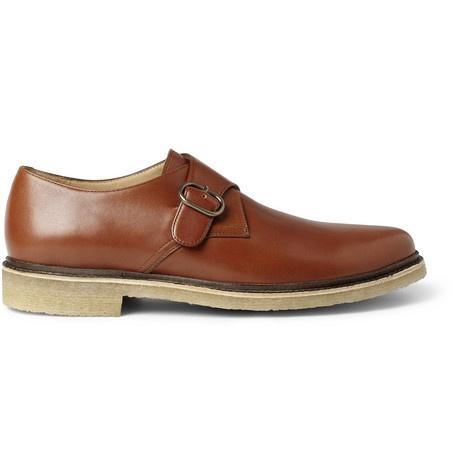 A.P.C. Leather Monk-Strap Shoes | MR PORTER