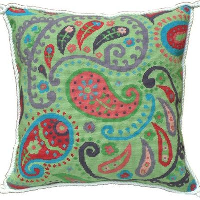 Green Paisley Needlepoint Kit from The Stitchsmith