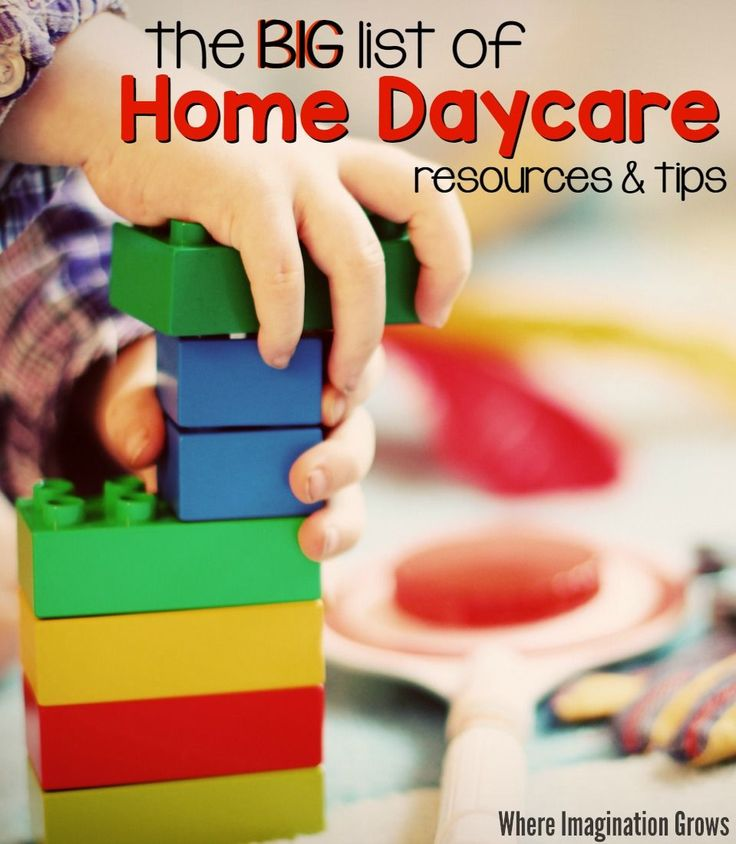 Tips on starting a home daycare from an experienced daycare provider! The big list of tips and resources for family child care providers!