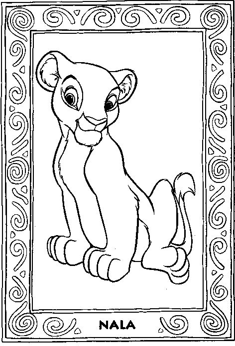 Lion-King Coloring Page - Print Lion-King pictures to color at AllKidsNetwork.com