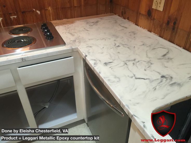 This countertop was coated with a Leggari Products DIY ...