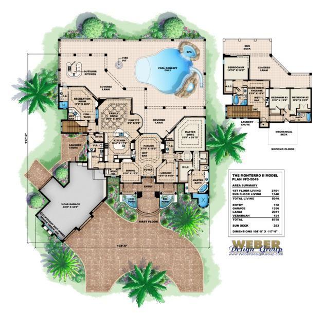 Monterro II Floor Plan By Weber Design Group Mediterranean Style Home Plan