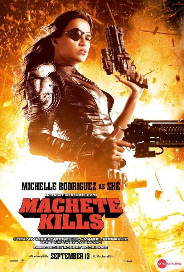 Machete Kills | Novo cartaz mostra Michelle Rodriguez como Shé  Cinema | Omelete