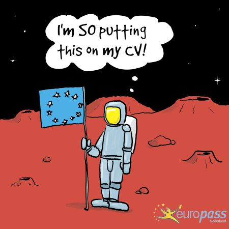 #Europass cartoons! Because doing a CV or compiling your profile is not only serious business...