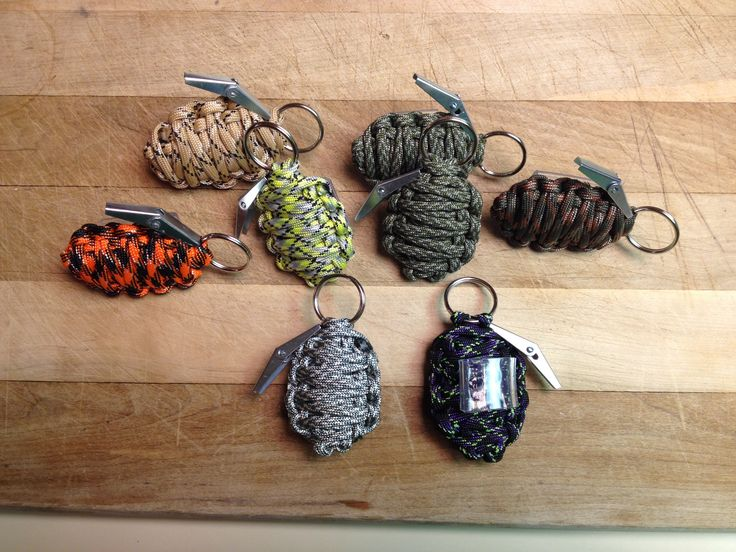 Paracord hand grenade slides super easy just do the for Cool things to do with paracord