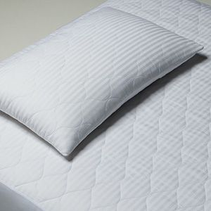 Hi Loft is a premium cotton product made from washable, all new, long fibre Australian cotton. Due to the special carding process used in manufacture it is loftier than other cotton with the same weight. It is more breathable, luxuriously soft and lightweight. The pillow protector has a 200gsm hi loft Australian cotton fill with a 1cm stripe sateen cotton cover.