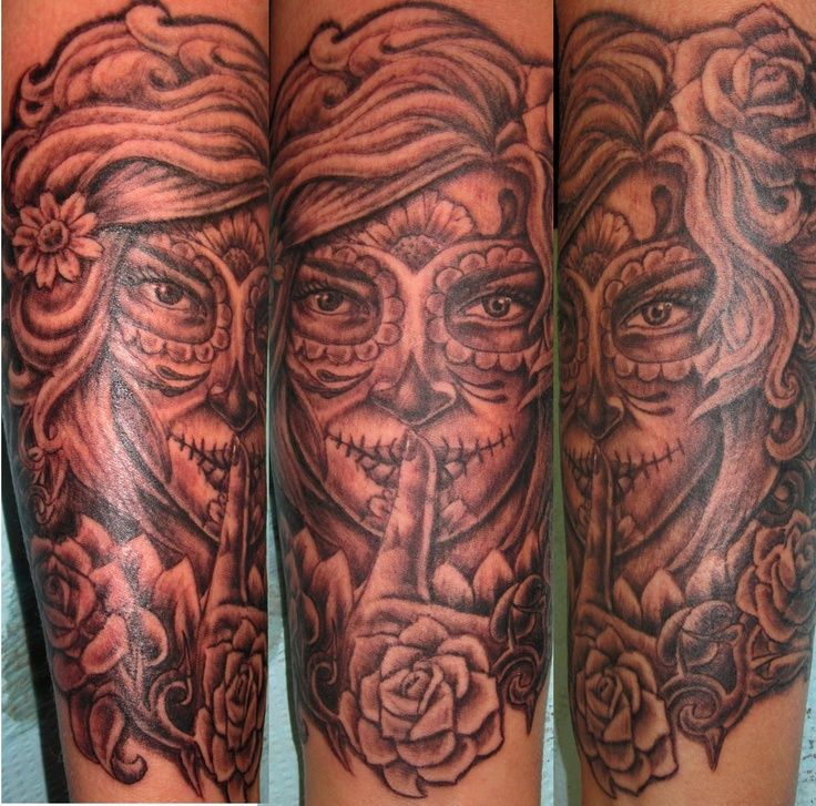 34 Best Day Dead Woman Tattoos Images On Pinterest