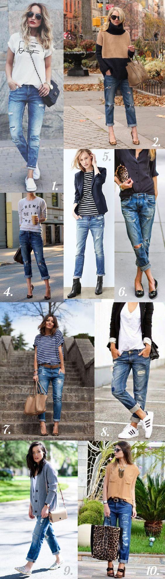 Los #BoyfriendJeans seguirán siendo tendencia en el 2017. Estos #Outfits te inspirarán para saber cómo vestirlos. #OutfitIdeas #OutfitsConBoyfriendJeans #StreetStyle