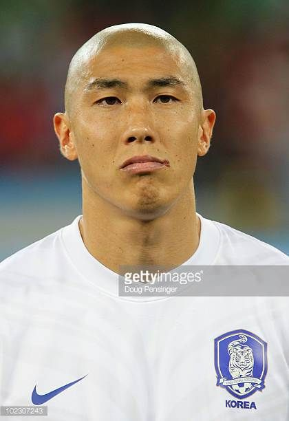 Cha DuRi of South Korea ahead of the 2010 FIFA World Cup South Africa Group B match between Nigeria and South Korea at Durban Stadium on June 22 2010...
