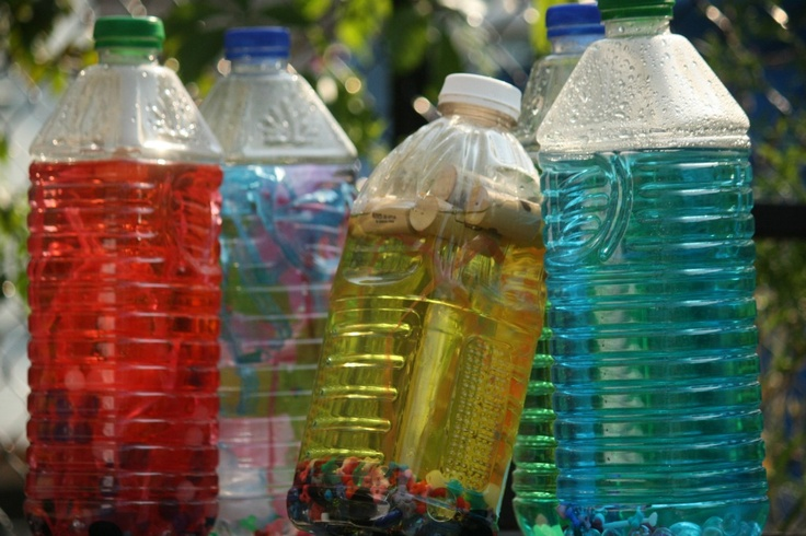 Bottle Babies by happyhooligans: Essentially plastic bottles filled with liquid and small