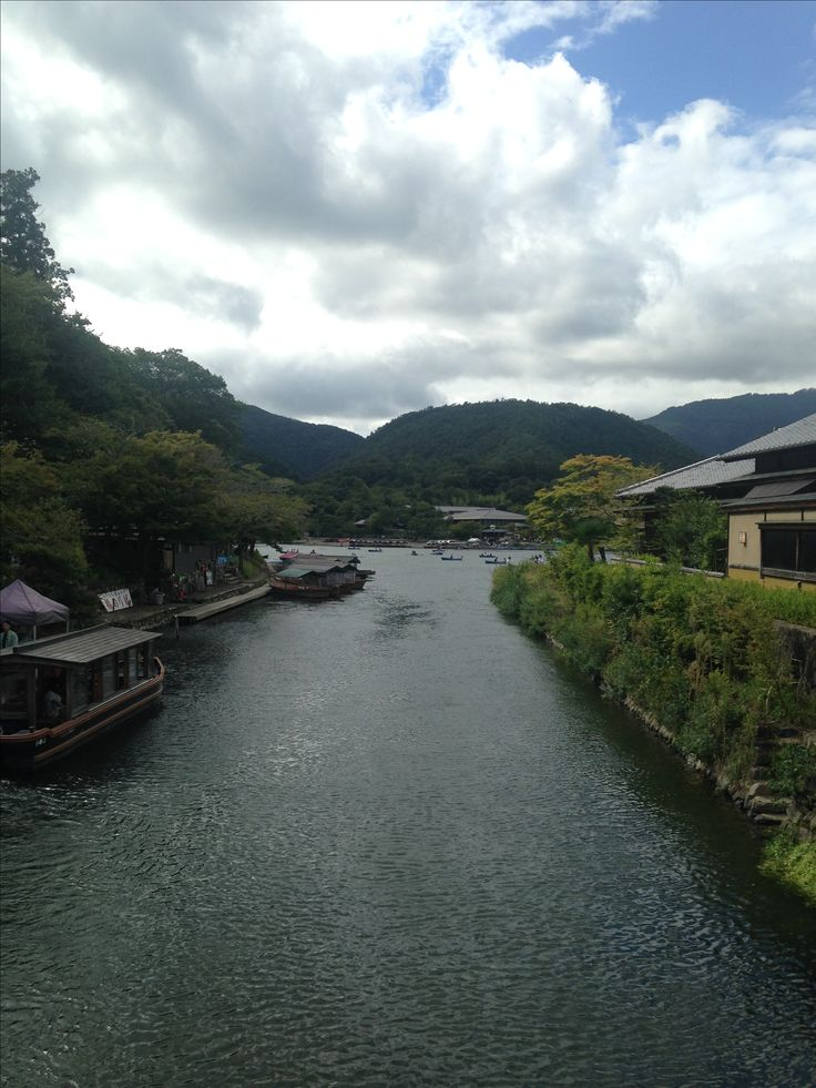 View from the bridge in Kyoto, Japan
