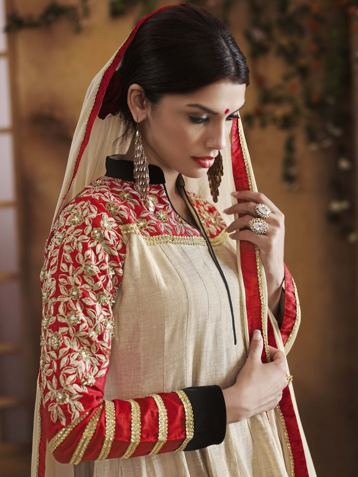 Art Silk Anarkali With Zari Embroidery & Stone Embellishment