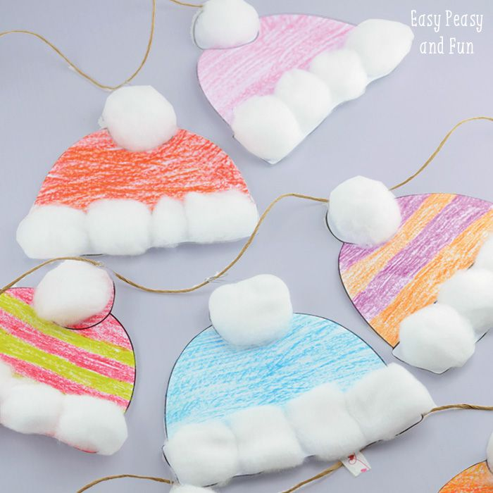 Winter Hats Craft for Kids - Perfect Classroom Craft - Easy Peasy and Fun