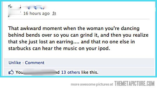 Just an honest mistake…Dads Funny, Awkward Moments, Facebook Jokes, Funny Shit, Funny Facebook, Jokes Headphones, Hilarious Things, Funny Stuff, Umm Awkward