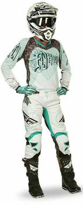 Fox racing turquoise matching set